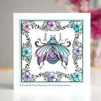 Creative Expressions Designer Boutique Collection A6 Clear Stamp - Jewelled beetle